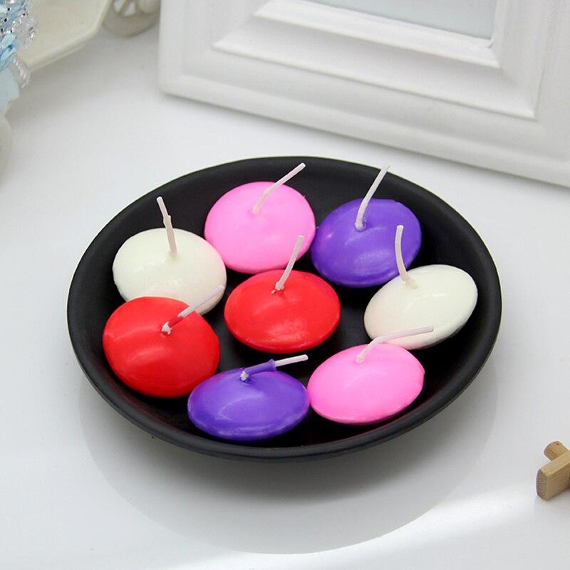 100 peças românticas velas flutuantes sem perfume para a festa de casamento propostas de casamento aniversário decoração para casa velas decorativas