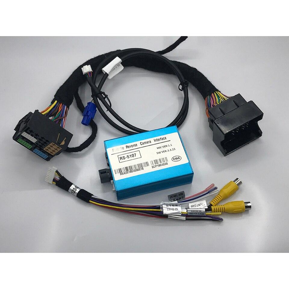 Dianteira E Traseira Da Câmera do carro Inteligente de Vídeo Interface de Integração Para Cayenne Porsche Macan 2016 ~ 2019 Sistema de Estacionamento Orientações PCM4.0