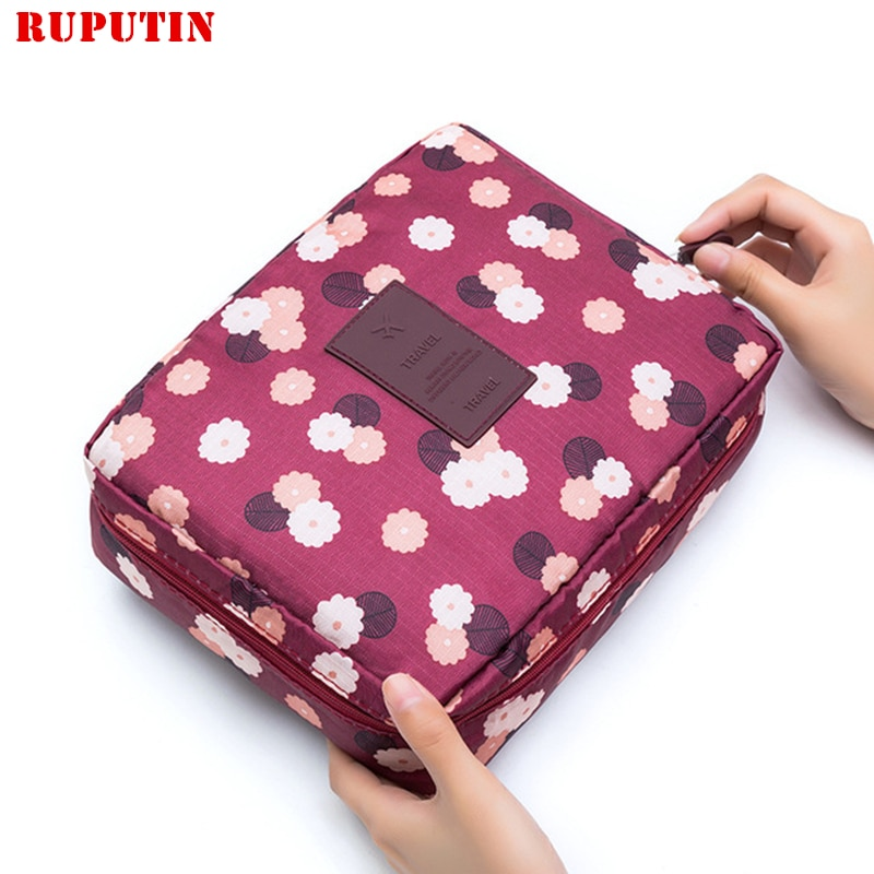 RUPUTIN Drop Ship Travel Cosmetic Bags Multifunction Women's Toiletries Organizer Make Up Bag Waterp