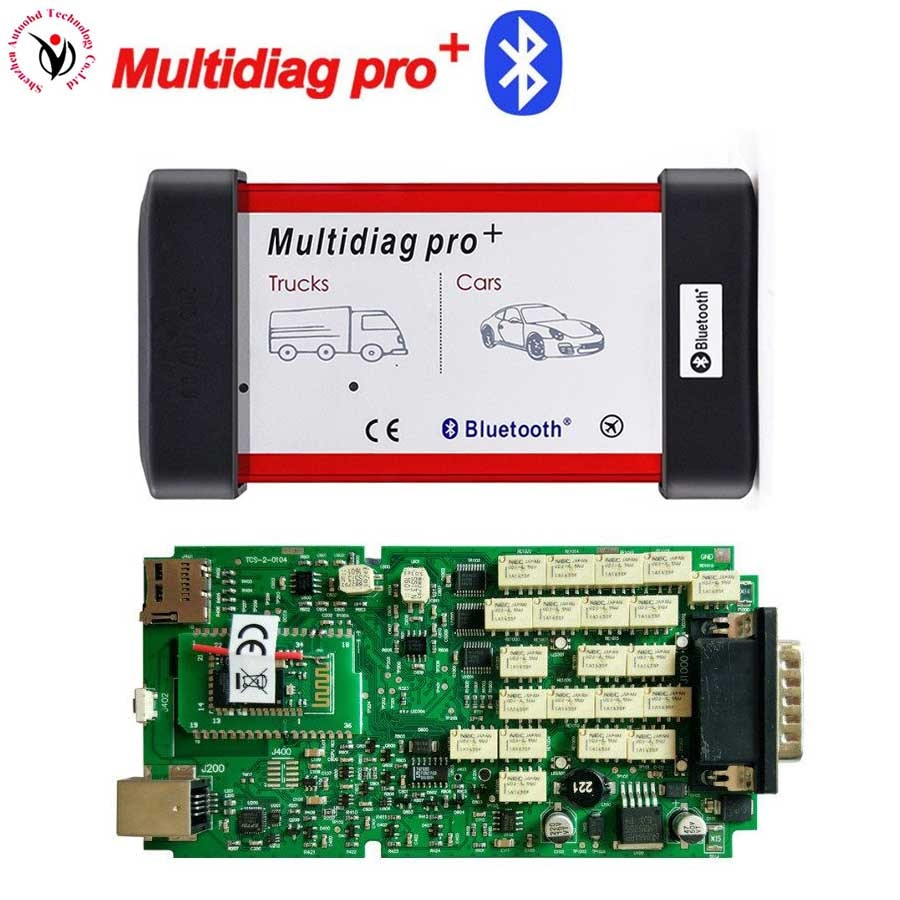 5 uds envío gratuito con DHL enviar nuevas VD TCS CDP PRO Multidiag pro + 2016,0 software activación gratis con una sola placa PCB + Bluetooth + A + de calidad