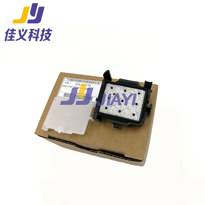 ¡Alta calidad! tapa negra eco-solvente para MUTOH VJ-1604 Estación de tapas de impresora/montaje de cabeza de tapa DX5