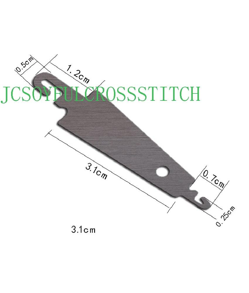 10 pçs gancho de aço agulha threader ajuda para a mão costurar fita bordado cruz x costura diy artesanato conjunto de costura jcs