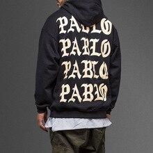 2018 hohe Qualität männer Langarmshirt Sweatshirt Ich Fühle Mich Wie Paul Pablo Kanye West YZY Hoodies Hip Hop Street Hoody Mann Frauen