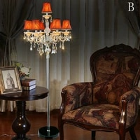 luxurious crystal floor lamps living room with lampshade led floor lights foyer room candle lights modern floor lamp for bedroom