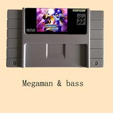 Megaman y bajo 16 bits Super tarjeta de juego para el jugador de juegos PAL/NTSC