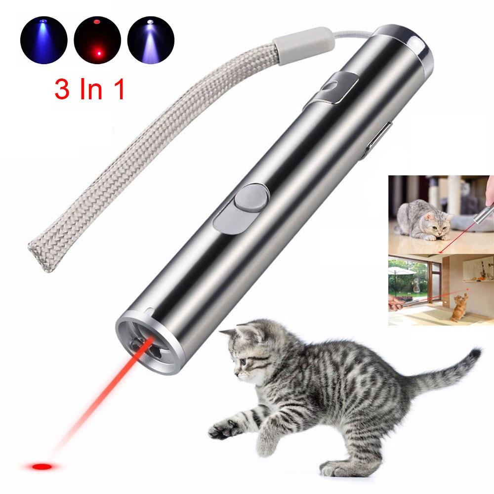 Мини красная лазерная указка USB перезаряжаемая 3 в 1