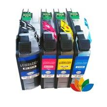 4 stücke brother kompatibel lc223 lc221 tinte patrone für mfc-j4420dw mfc-j4620dw mfc-j4625dw mfc-j4625dw