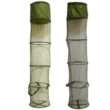 LEO 5 warstw składany kosz rybacki Dip netto klatka rybacka, aby utrzymać ryby żywe w wodzie 30 cm * 140 cm akcesoria wędkarskie narzędzia