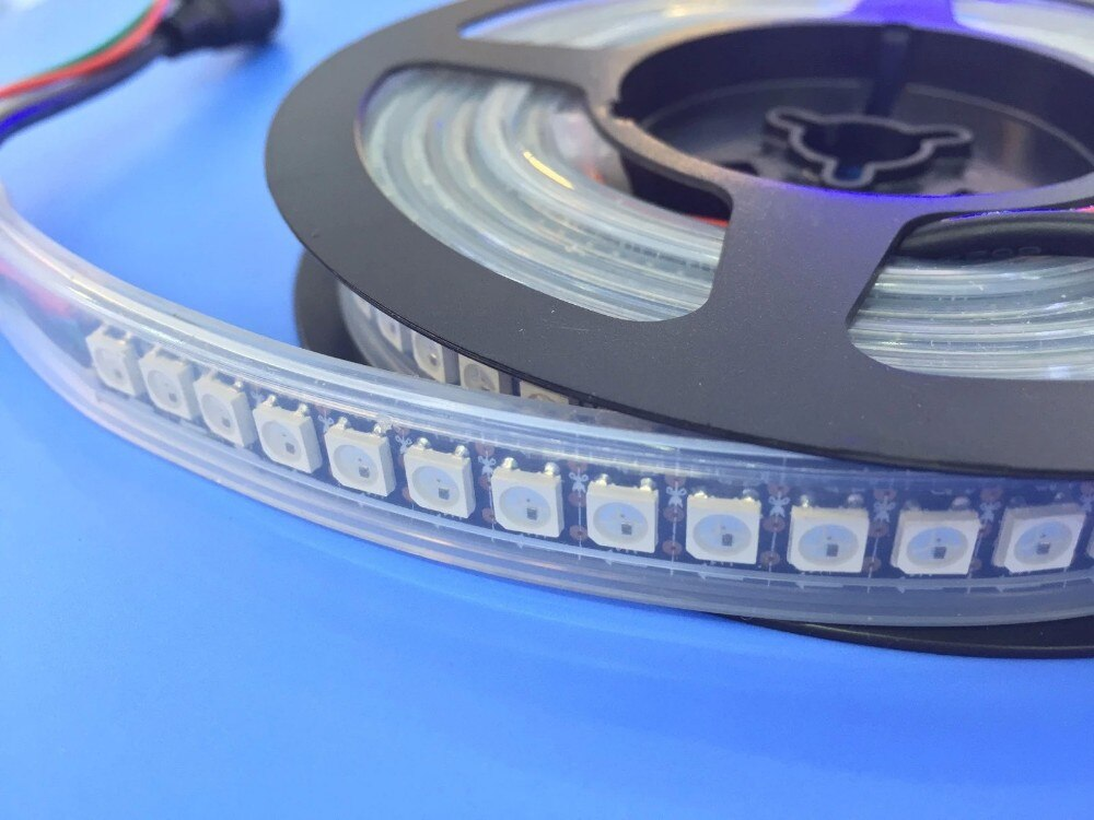 Programable DC5V WS2812 IC mágica de Color RGB tira de LED SMD 5050 control color LED robbion