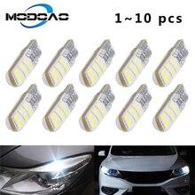 1~10 PCS T10 LED Bulb COB Clearance Lights Reading Lights W5W 194 Silicone Shell Led Car bulb 12V Auto Wedge Side Light