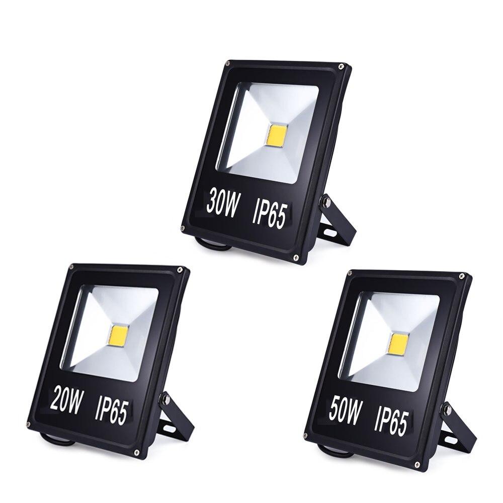Reflector de proyector LED de 20W 30W 50W, lámpara de pared impermeable de 220V, Reflector Led COB de Chip, iluminación exterior