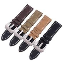 Retro Genuine Leather Watch strap Bracelets 18mm 20mm 22mm 24mm Frosted Leather watch Band Belt Accessories for Female Male
