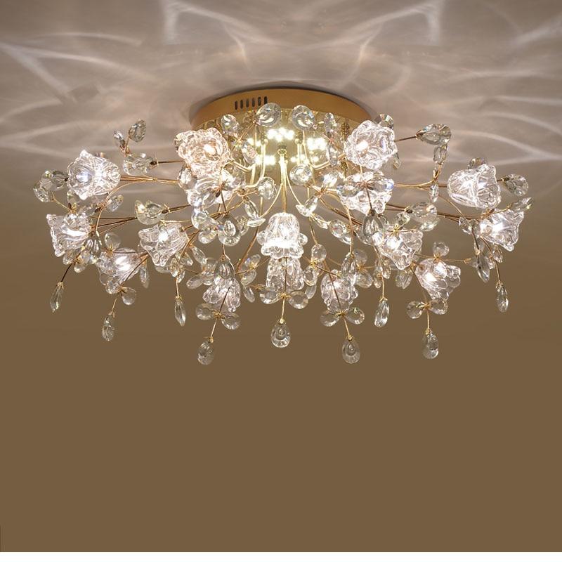 LED Crystal Ceiling Lights Bedroom Chinese Ceiling Light Decoration Indoor Lighting LED Home Lights for Living Room Ceiling Lamp