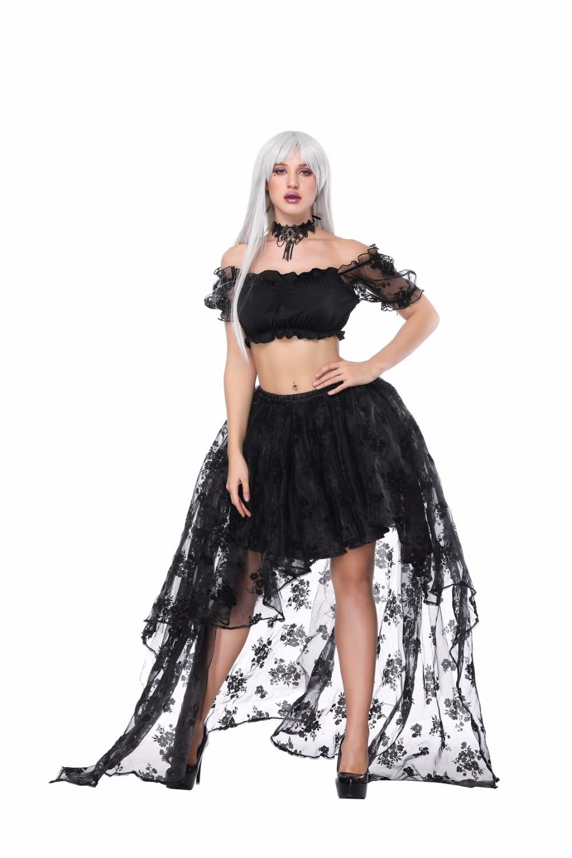 Asymmetrical Skirt Women Party Prom Retro Goth Overbust Corset TuTu Skirt Fancy Costume Sexy Gothic Corsets skirt