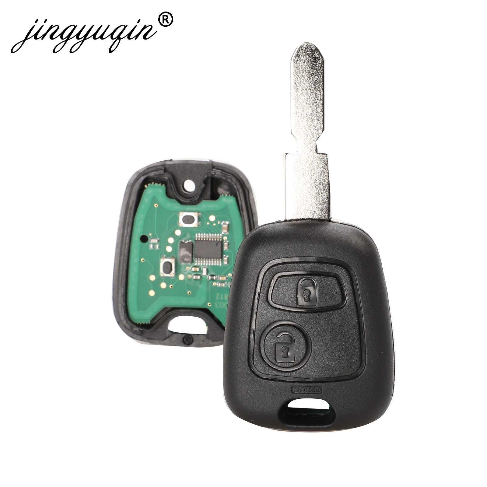 2 Button Remote Car Key Fob For Citroen C1 C2 C3 C4 Saxo Picasso Xsara Picasso Peugeot 106 206 306 307 107 207 407 Partner Car Key Aliexpress