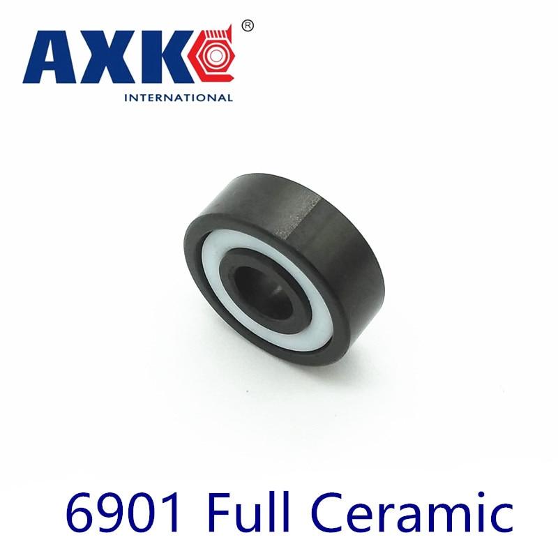 Axk 6901 полностью керамический подшипник (1 шт.) 12*24*6 мм Si3n4 материал 6901ce все керамические шарикоподшипники из нитрида кремния