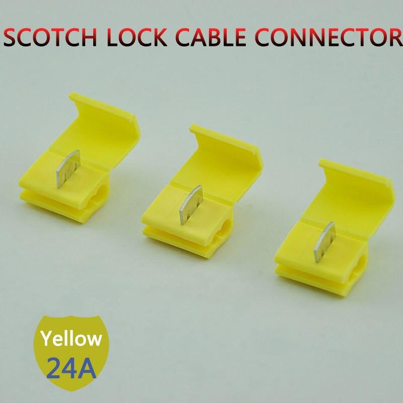 10 unids/lote 803P3 amarillo cerradura escocesa de empalme rápido Terminal crimpado 12-10 AWG duro de conector de cable