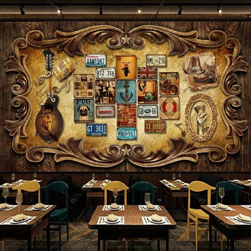 Papel tapiz Vintage Colomac, diseño De Pared Retro, creativo europeo, nórdico, Mural...