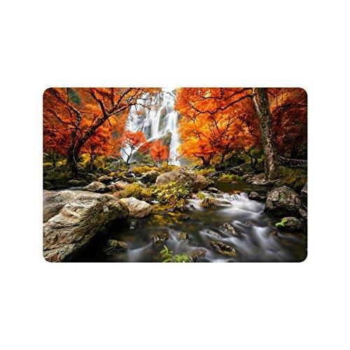 Cascada escorrentía paisaje Anti-de salida de escape de casa decoración otoño bosque de interior al aire libre de la entrada alfombra de goma