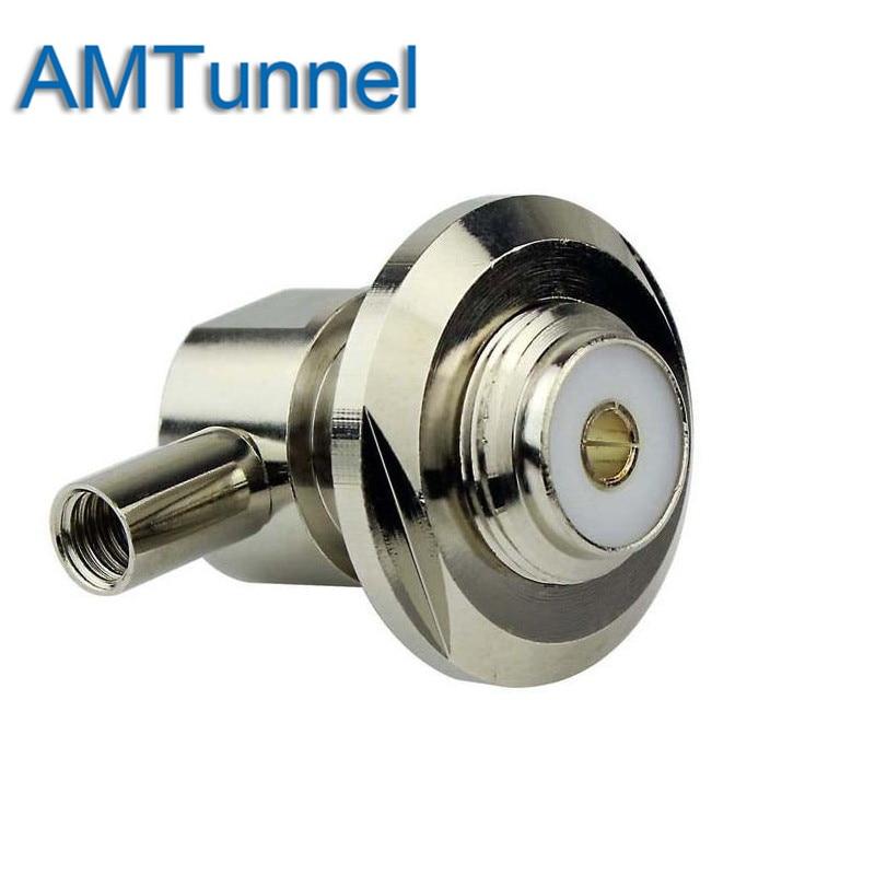 Antena de coche 50-3 Cable ángulo recto SL16/UHF hembra impermeable/Metal Cap conector Coaxial RF UHF-KW-3