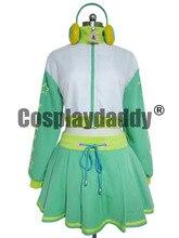 Vocaloid Progetto DIVA 2 Cosplay Hatsune Miku Verde Costume