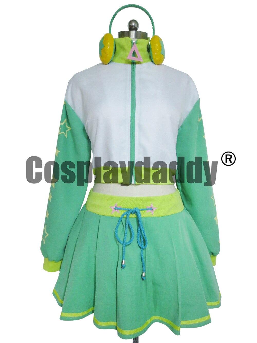 Вокалоид проект Дива 2 косплей Хацунэ Мику зеленый костюм