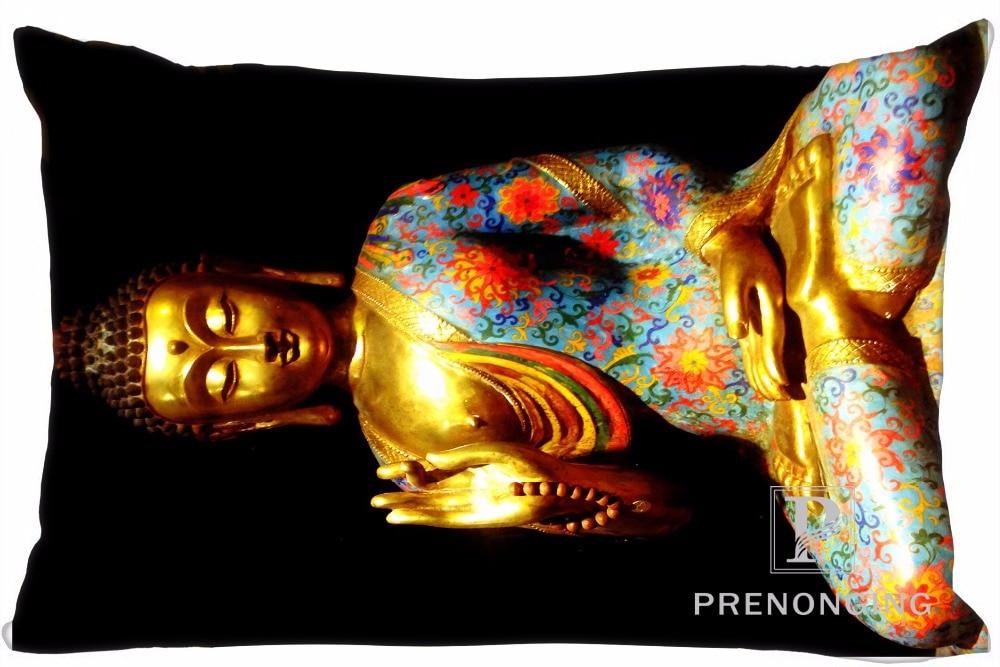 Funda de almohada personalizada con cita budista, funda de almohada rectangular con cremallera de 35x45cm (un dibujo lateral) @ 180117-76