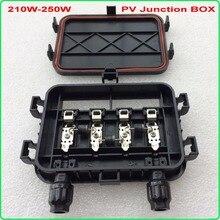 210 W-250 W boîte de jonction solaire étanche IP65 pour cellules solaires panneau connecter PV boîte de jonction connexion de câble solaire avec diode