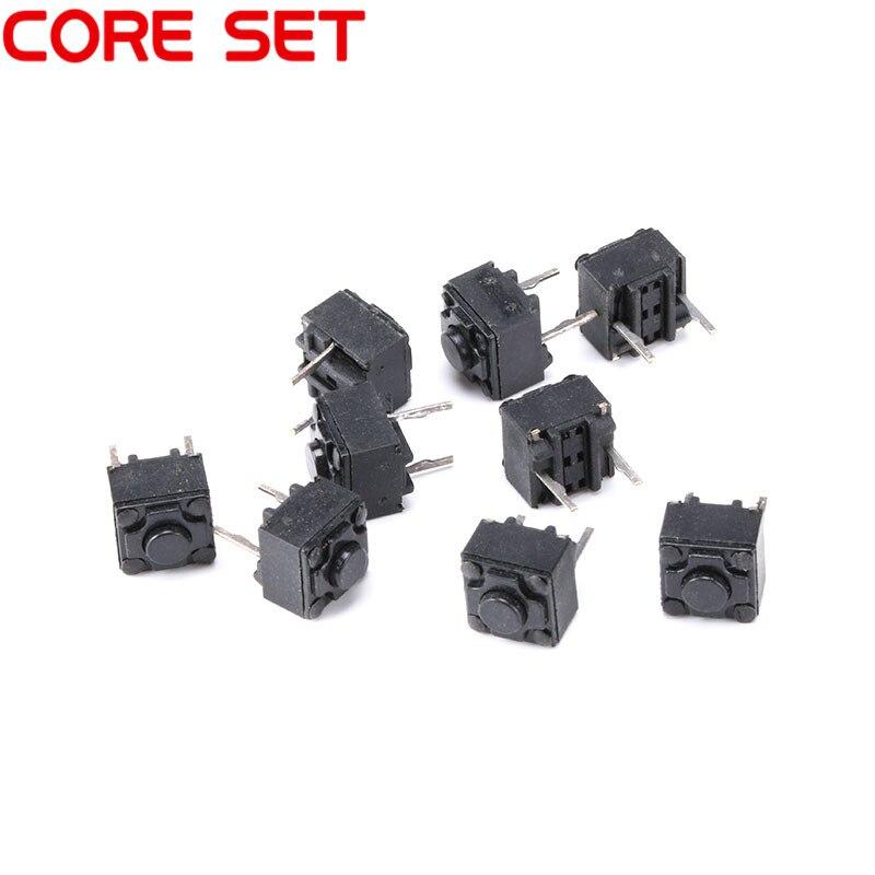 100 unids/lote 6x6x6,0 MM interruptor tacto Micro 6*6*6mm botones teclas interruptor 2PIN