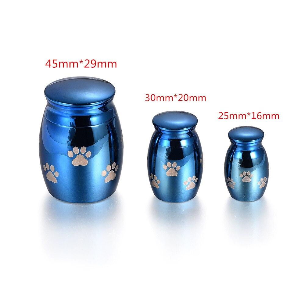 IJU015-1 Paw Print Pet Memorial Cremation Jar Dog/Cat Funeral Ashes Locket Jewelry Keepsake Stainless Steel Mini Urn