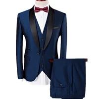 yunclos mens suits slim fit tuxedo shawl lapel formal 3 pieces suit wedding prom tux jacket waistcoat trousers