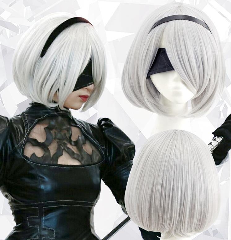 Парик для косплея йорха No.2 Тип B 2 boreh 2A 9S 2B Wig NieR:Automata Costume Play Wigs Costumes Hair + колпачок для парика