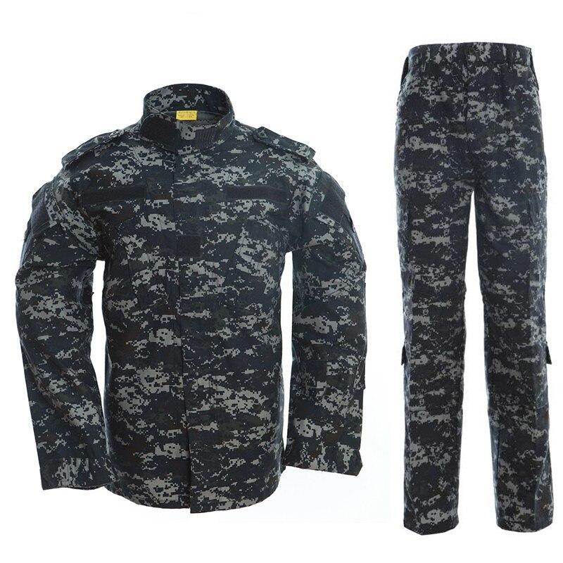 Conjuntos de pesca para acampar al aire libre para hombres y mujeres, ropa militar de camuflaje táctico, uniforme de entrenamiento deportivo, chaqueta militar, pantalones, trajes