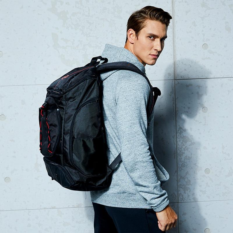 Kuangmi Multi-functional Sports bag Basketball backpack black blue team training package 42L 30L