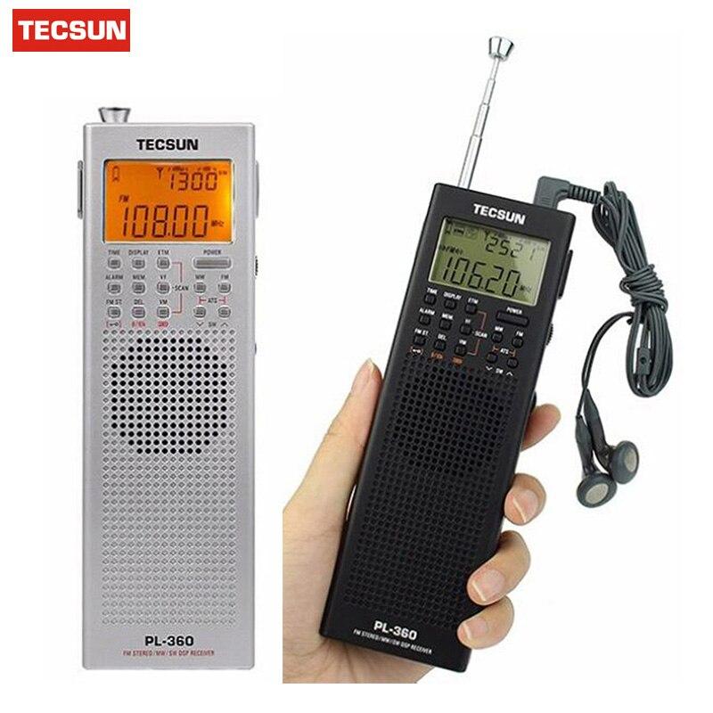 Tecsun PL-360 Radio DSP Receiver FM MW SW LW + External AM Antenna + Outdoor Antenna Portable Radio Recorder Y4131A PL360 Deshen