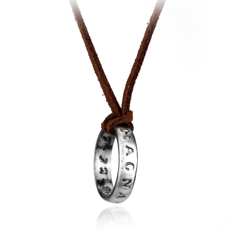 Dongsheng colar de couro para jogos ps4 4, colar de couro uncharted 4 a thiefs end, nathan drake, colar longo, presente para homens, joias