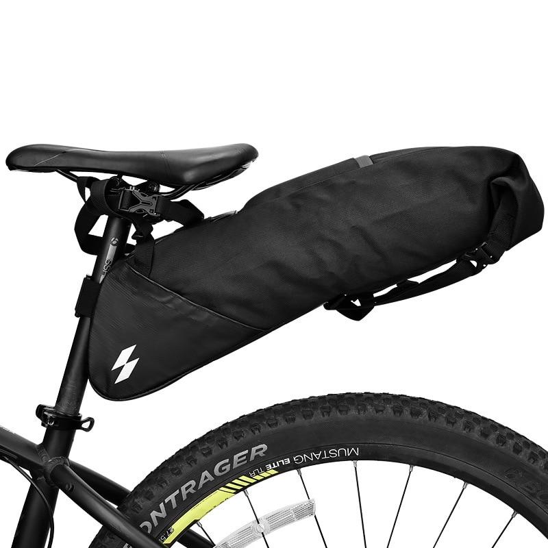 Sahoo 131414L-A-SA 10L Waterproof Cycling Bicycle Bike Saddle Bag Seat Tail Rear Bag Pack MTB Storage Pouch Carrier