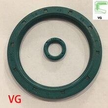 VG 12*19*3 12x19x3 12*21*3 12x21x3 Green NBR Nitrile Rubber Groove Single Lip External Thread Rotaroty Skeleton Gasket Oil Seal