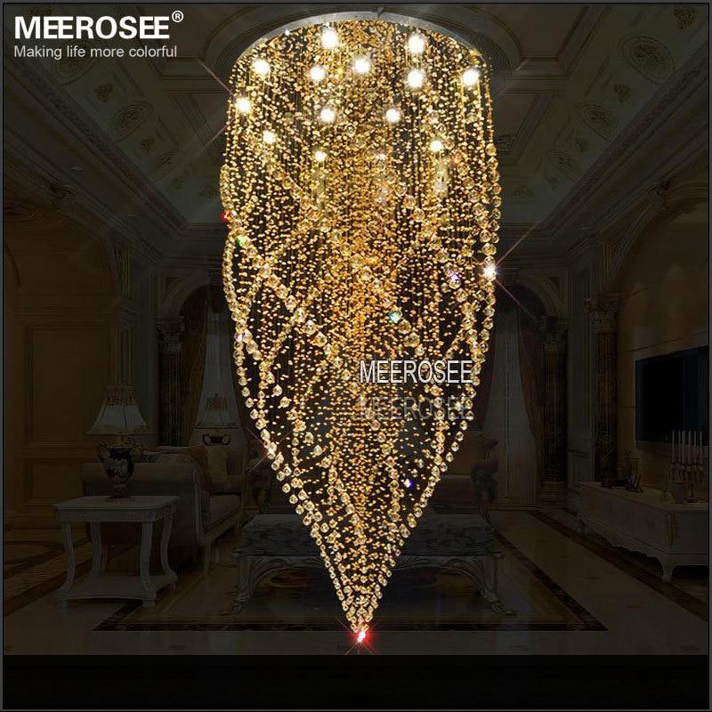Ronda candelabro con cristales de iluminación de cristal ámbar lámpara lustre de...