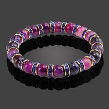 Classic light Crystal Bead Charms Bracelet Natural Stone Love Purple Wonder Beaded Bracelets Women Men gift Jewelry Accessories