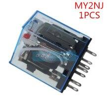 MY2P HH52P MY2NJ 1 pièce   Bobine de relais générale DPDT Mini relais électromagnétique, 110V 220V V cc 12V 24V