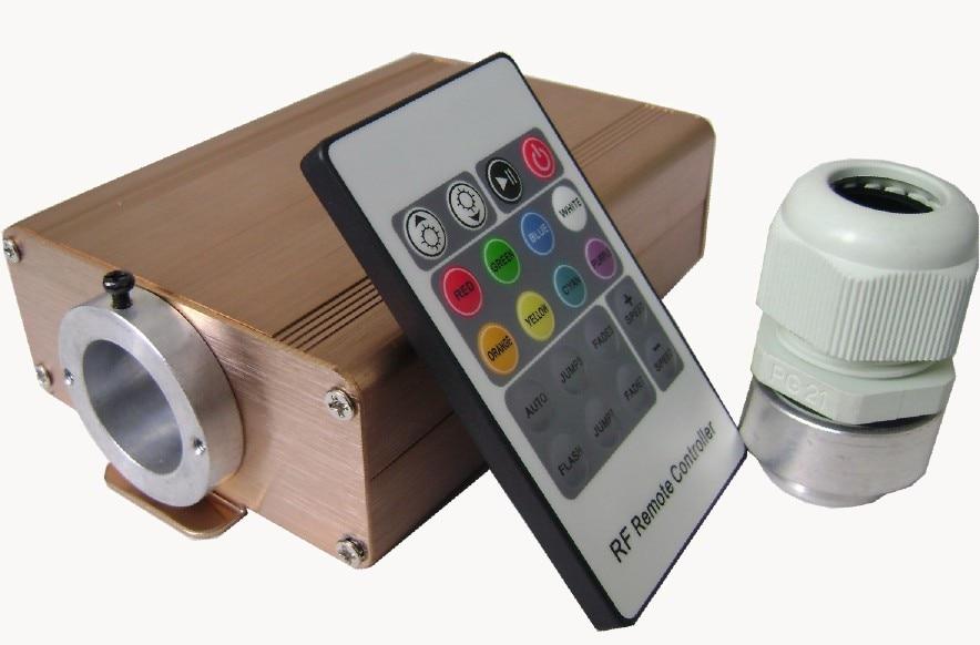 12w LED RGB fiber optic illuminator,with 220key RF remote controller;AC100-240V input
