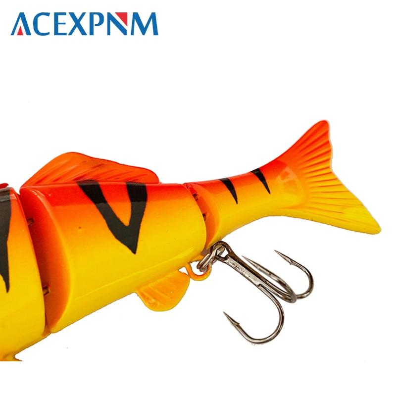 Fishing Bass Lure Multi Jointed Artificial Bait Segment Lifelike Trout Swimbait Hard Crankbait Treble Hooks Hard Fishing Lures enlarge