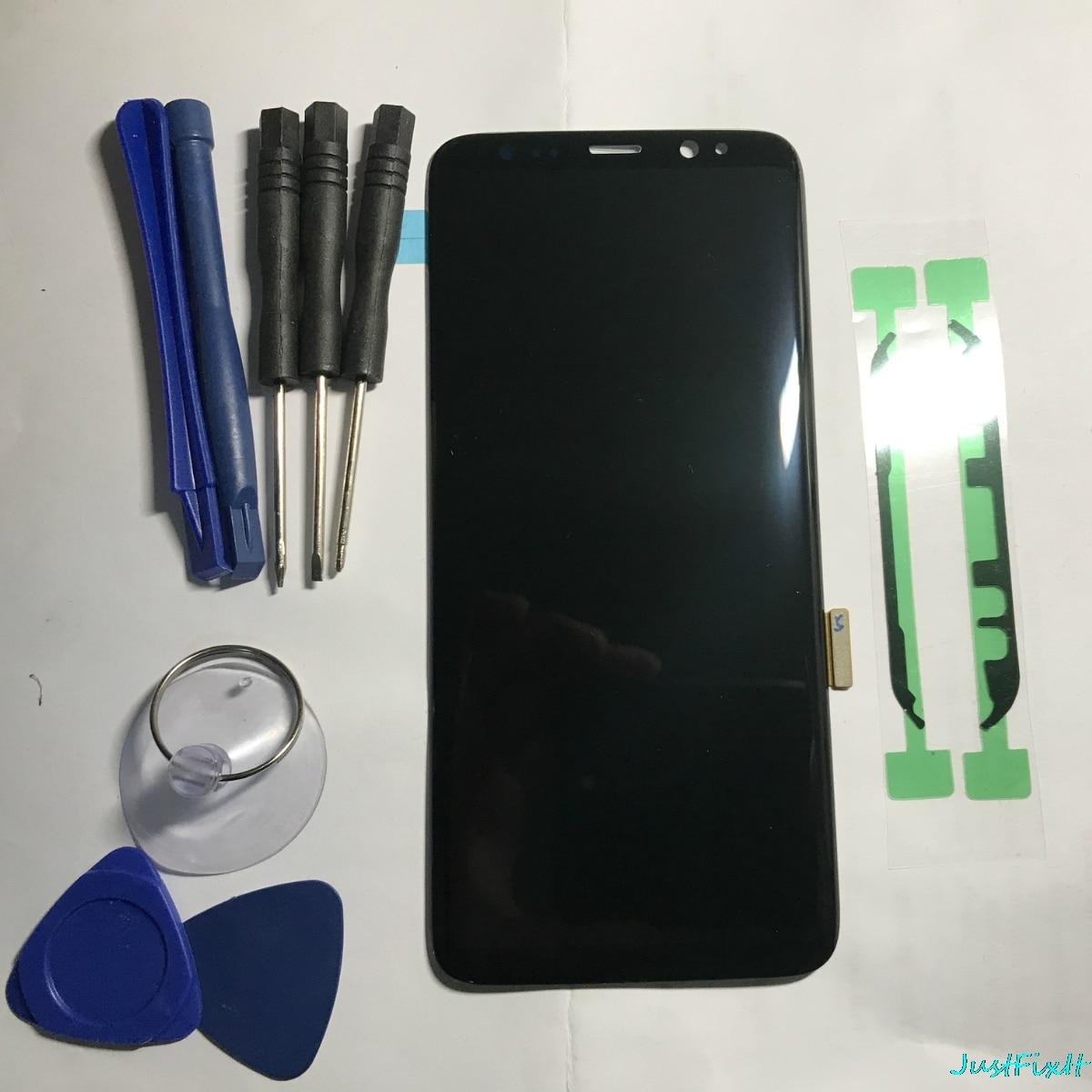 Super AMOLED Screen For Samsung Galaxy S8 G950F G950A G950FD Black Spot Lcd Display Touch Screen Digitizer