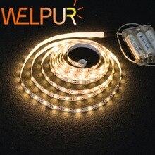 3AA 배터리 전원 Led 스트립 빛 SMD2835 50cm 1M 2M 3M 4M 5M 유연한 조명 리본 테이프 흰색/따뜻한 흰색 스트립 백라이트