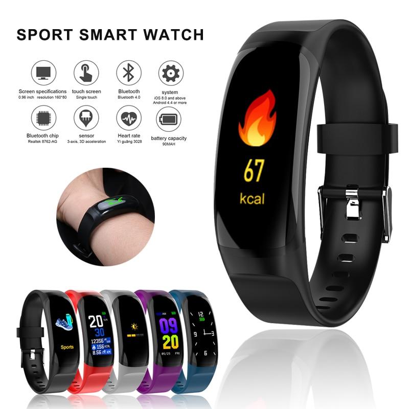 Pulsera inteligente barata a prueba de agua con ritmo cardíaco, presión arterial, Monitor de sueño, pulsera deportiva para hombres, rastreador de Fitness, banda inteligente