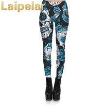 Nouveau mode femmes Leggings Fitness 3D crâne et fleur Leggings impression numérique pantalon pantalon Stretch Legging pour femme grande taille 4XL