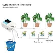 Inteligente sistema de irrigação por gotejamento de energia solar automático planta dispositivo irrigação temporizador kit água dupla bomba