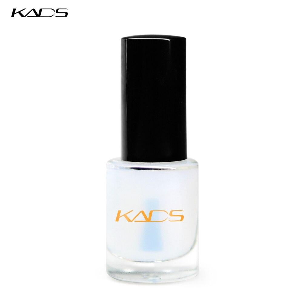 Круглое покрытие для ногтей KADS 9,5 мл, уход за ногтями, блестящий, устойчивый к царапинам, три в одном, Базовый элемент для дизайна ногтей, лак для стемпинга, верхнее покрытие