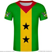 SAO tomé E PRINCIPE T-Shirt bricolage gratuit nom personnalisé numéro stp T-Shirt nation drapeau st portugais pays logos imprimer photo vêtements